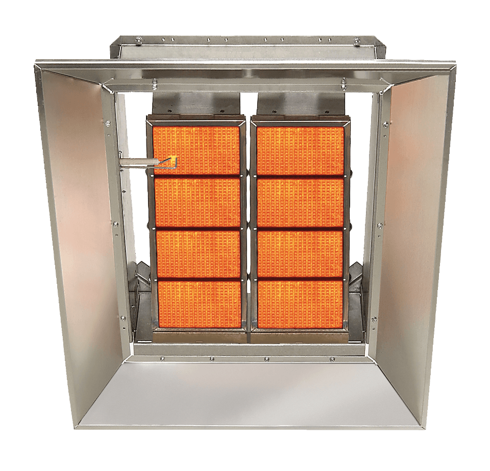RBD commercial high intensity infrared unit heater_top view