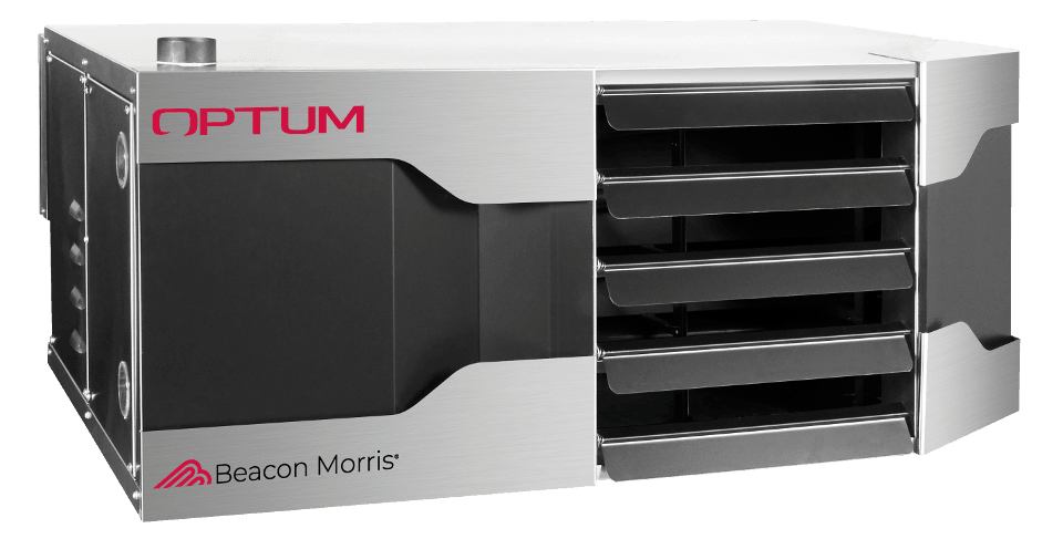 Front of Optum unit heater against a white background