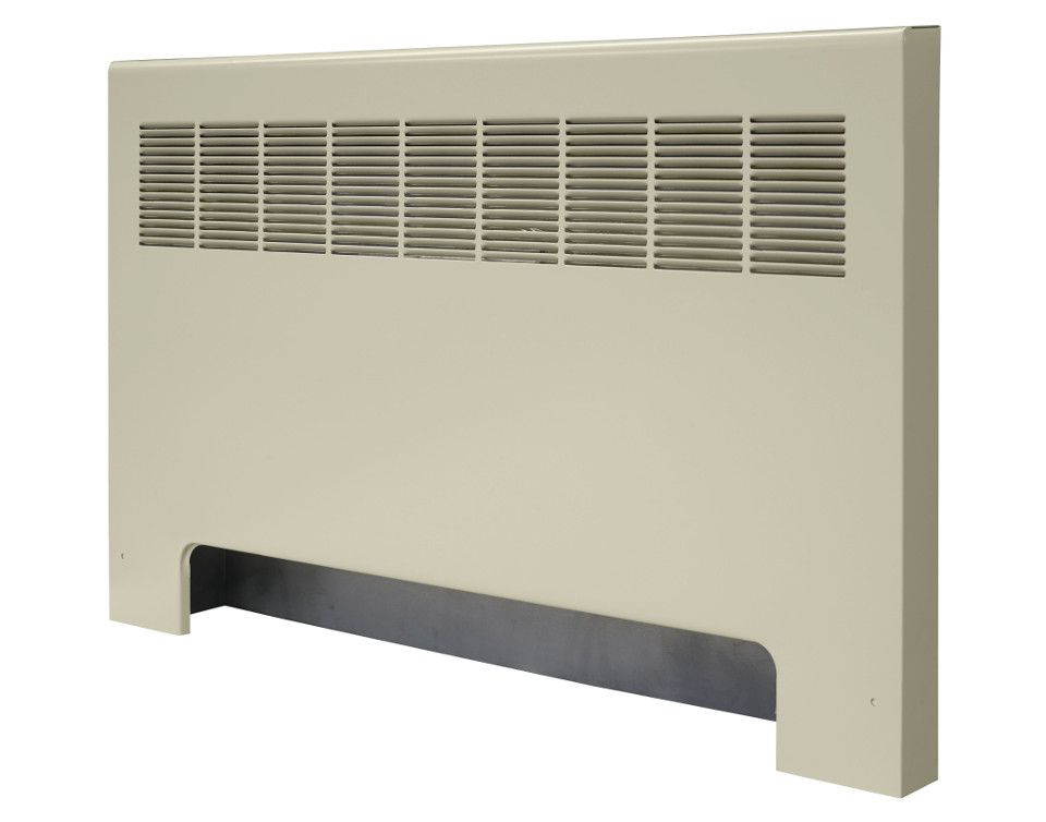 Front of a SR-A convector unit against a white background