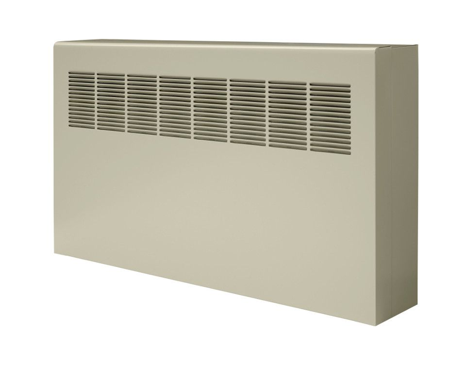 Front of a W-A convector unit against a white background