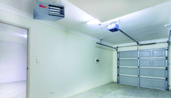 BRT residential garage heater installation photo